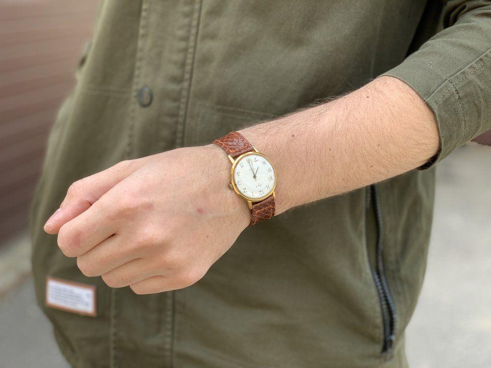 Ремешок для часов из кожи питона 01